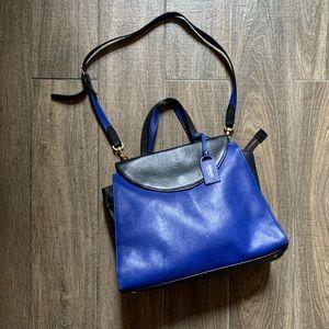 Kate Spade Blue Top Handle Bag w Shoulder Strap